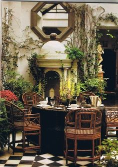 40 British Colonial Decoration Ideas Here Are Some Really Good Tips On How To Ensure That You Stick To The Theme Of British Colonial Decoration Themes. Other touches that you can add to make your decoration theme look even Outdoor Rooms, Outdoor Dining, Outdoor Gardens, Dining Area, Dining Table, Patio Dining, Outdoor Bedroom, Outdoor Patios, Dining Rooms
