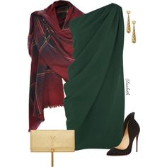 Christmas by lbite1 on Polyvore featuring Lanvin, Christian Louboutin, Yves Saint Laurent and Gucci