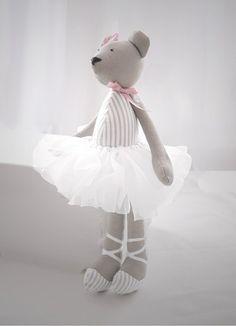 Ola - baletnica miś imienny (proj. Lollipop), do kupienia w DecoBazaar.com
