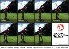 Ryan Fox's golf swing sequence at hole Remuera Golf course during pro-am round of NZ PGA Championship Golf Swing Analyzer, Golf Handicap, Golf Instructors, Golf Apps, Golf Holidays, Golf Clubs For Sale, Golf Tips For Beginners, Perfect Golf, Bald Heads