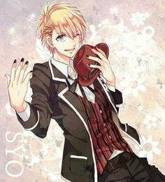 Syo Kurusu wants to take you out tonight, he is wearing a moran shirt with a black and white suit with a maron hat, the background has a bright vibe.
