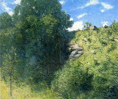 Julian Alden Weir Ravine near Branchville - American Impressionism