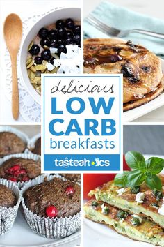 Low Carb Breakfast Ideas - A collection of quick and easy low carb breakfast ideas for every morning! Start your day off with a keto breakfast recipe full of fat and low in carbs. | Tasteaholics.com via @tasteaholics
