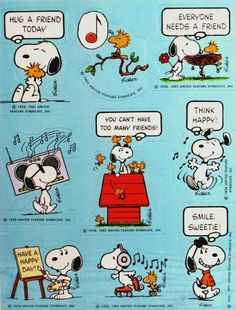 Snoopy friendship! (I think I had these stickers when I was growing up!)