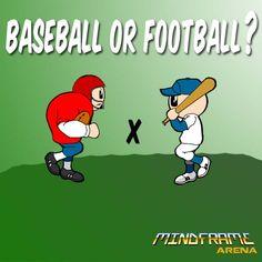 Baseball or Football? Sports Baseball, Football, Game Dev, Mobile Game, Family Guy, Guys, Fictional Characters, Soccer, Futbol