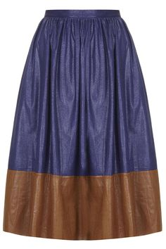 **Snake-Effect Midi Skirt by Sister Jane  TOPSHOP