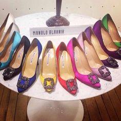 """Manolo Blahnik """"Hangisi"""" Shoe I WANT AAAAALL OF THEM PLEASE BH"""