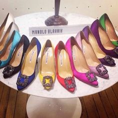 """Manolo Blahnik """"Hangisi"""" Shoe  I have the purple and now I want the rest PLEASE!"""