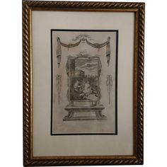 18th century engraving, David and Bathsheba, religious antique print by Amos Doolittle, 1795