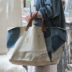 bag, denim, Criar com Tecidos: Uma bolsa grande ou uma grande bolsa?