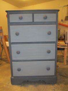 2 toned gray dresser