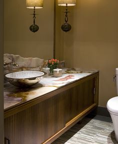 alabaster counters TRUMP TOWER - Residential interior NYC - Shields Interiors