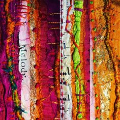 Exploring colour and texture:  textiles and mixed media workshop with Deborah Collum in Spring 2020 – Deborah Collum Love Art