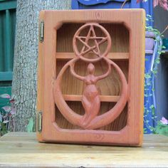 Crescent Moon Goddess  Pentacle Cabinet  by signsofspirit on Etsy, $225.00