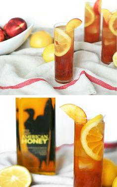 Peach Tea with Wild Turkey American Honey.