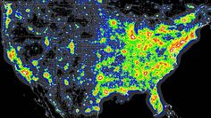 Another type of pollution is light pollution, which many people may not know about or believe is a real thing.  However, it is very real and is depicted within the map above of the United States.  Light pollution is just like how it sounds, the extra use of non-natural light sources.  This type of pollution has many negative effects, although it primarily effects birds.
