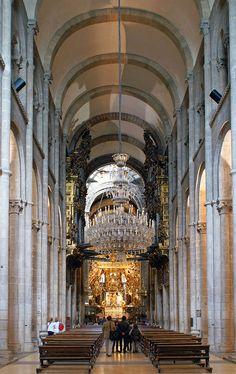I will walk the Camino to the Cathedral at Santiago de Compostela - Interior by Slybacon, via Flickr