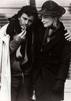 "Peter Falk & Gena Rowlands on the set of ""A woman under the influence"" (1974, John Cassavetes)"