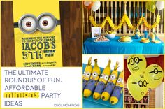 The ultimate roundup of fun, affordable Minions birthday party ideas! | CoolMomPicks.com