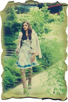 featuring Aishwarya Rai Bachan in Dior chiffon dress and boots, Valentino jacket, Cartier love bracelet & bracelet