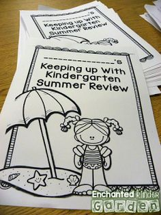 Love these summer review packets that are easily individualized specifically for each student.