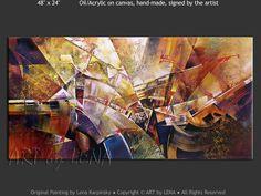 """Avant-Garde Etude 3"" - Original Abstract Art by Lena Karpinsky, http://www.artbylena.com/original-painting/20951/avant-garde-etude-3.html"