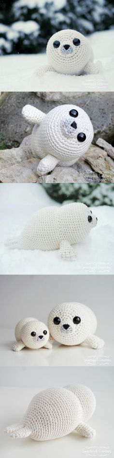 Bubbly The Baby Seal Amigurumi Pattern #Bubbles