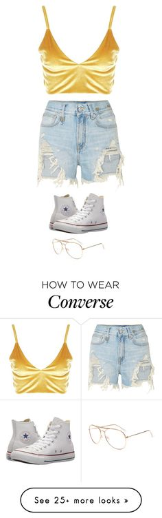 """""""Untitled #5890"""" by twerkinonmaz on Polyvore featuring Boohoo, R13 and Converse"""