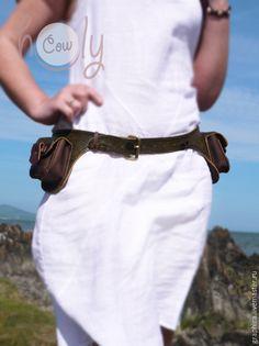 """Женские сумки ручной работы. Оригинальная сумка на пояс """"Crazy Green"""". Thai Holy Cow. Интернет-магазин Ярмарка Мастеров."""