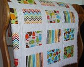 Baby Boy Quilt Dr. Seuss Blanket Nursery Bedding. $120.00, via Etsy.