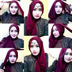 tutorial hijab segitiga 2014