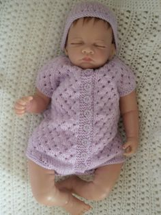 Knitted Coming Home Outfit for the Summer by Meganknits4charity, £14.00