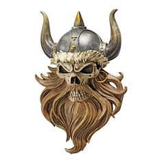 Design Toscano The Skull of Valhalla Viking Warrior Wall Statue *** Check out the image by visiting the link. (This is an affiliate link and I receive a commission for the sales)