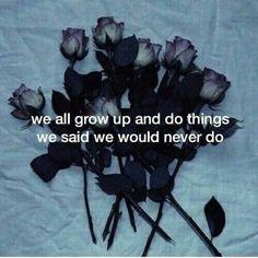 todos nós crescemos e fazemos coisas que dissemos que nunca fariamos