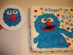Grover smash cake