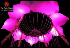 Lotus design from The Tulip Touch  wedding mandap