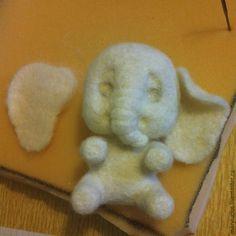 Мастер-класс: маленький слонёнок из шерсти - Ярмарка Мастеров - ручная работа, handmade