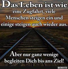 Das Leben ist wie eine Zugfahrt..