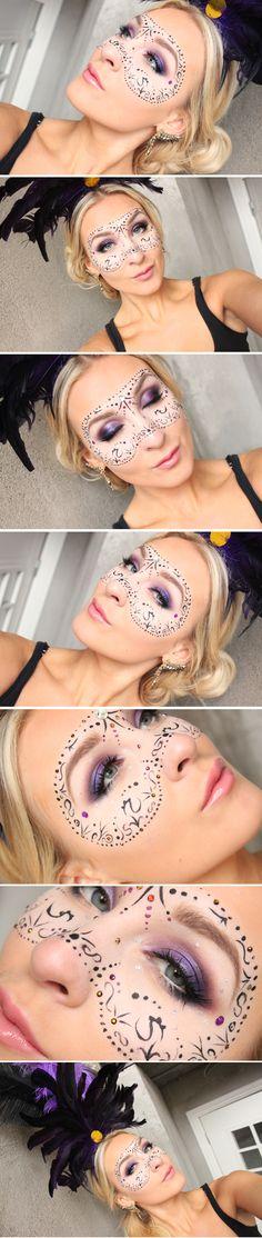 Dagena makeup – Burlesque mask | Helen Torsgården