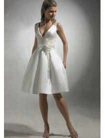 Prinzessin Kurz Taft V Ausschnitt Mit Blumen Brautkleid Standesamt