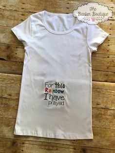 Rainbow Baby Maternity Shirt For This Rainbow by TheBarkerBoutique