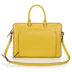kate spade new york Janine Notebook Carrying Case $449.95 #yellow #leather #laptop