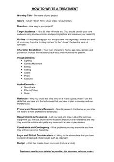 Tv Show Treatment Template Treatment Template Writing A Tv Show Treatment Tv Show Writing A Movie Script, Screenplay Format, Film Class, Film Tips, Film Theory, Movie Scripts, Short Film Scripts, Writing, Movies
