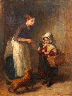 Going Visiting,  Hugh Cameron (1835 – 1918, Scottish) I AM A CHILD-children in art history-blog