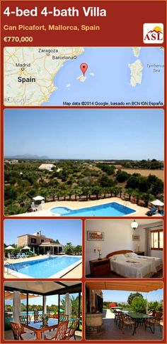 4-bed 4-bath Villa in Can Picafort, Mallorca, Spain ►€770,000 #PropertyForSaleInSpain