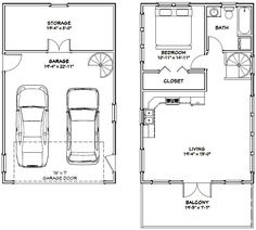 20x32 Tiny House -- #20X32H7G -- 785 sq ft - Excellent Floor Plans