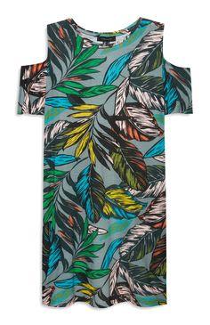 Primark - Tropical Print Cold Shoulder Dress Primark, Destination Wedding, Cold Shoulder Dress, Women Wear, Pajama Pants, Fashion Textiles, Tropical Prints, Casual, 2017 Summer