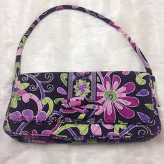 Vera Bradley Purple Punch Knot Just A Clutch Bag