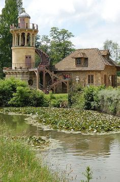 Marie Antoinette's Petit Trianon, a small château, located on the grounds of the Palace of Versailles in France