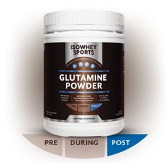IsoWhey Sports Glutamine Powder Amino Acids Pure micronised L-glutamine to help maintain healthy digestive function and muscle health in athletes. Amino Acid Supplements, Nutritional Supplements, Post Workout Supplements, Pre And Post, Amino Acids, Muscle, Pure Products, Weight Management